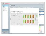 Planvy illustrerar kritisk information i datacentrat, och ger en överblick  av kapacitet och möjliga problem.